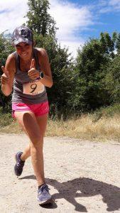 Anne-Laure très décontractée malgré l'épreuve d'un 50 km sous la chaleur !