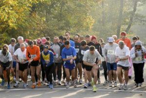 Course à pied des 10 km du Bois de Boulogne, le 5 novembre 2006