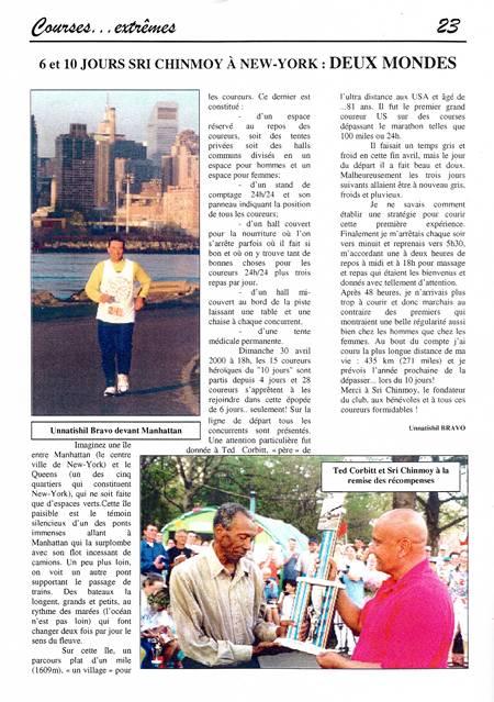 Article de l'Ultra Marathonien Automne 2000