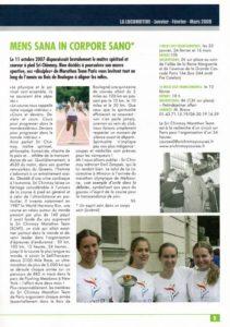 L'article du magazine Zatopek