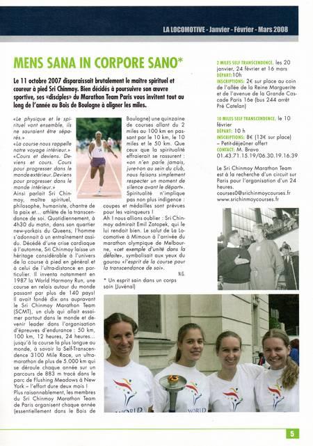 Article de Zatopek 1er trimestre 2008
