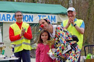 Gilles Dufossé, vainqueur du marathon, dans un accoutrement... étrange !