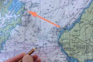Le détroit de Cook, large de 25 km... en ligne droite !