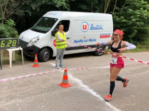 Sylvie Rose-Cartoux, première du 100 km devant les hommes !