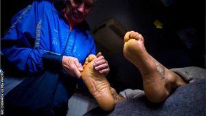 Les soins des pieds figurent en tête de liste des priorités